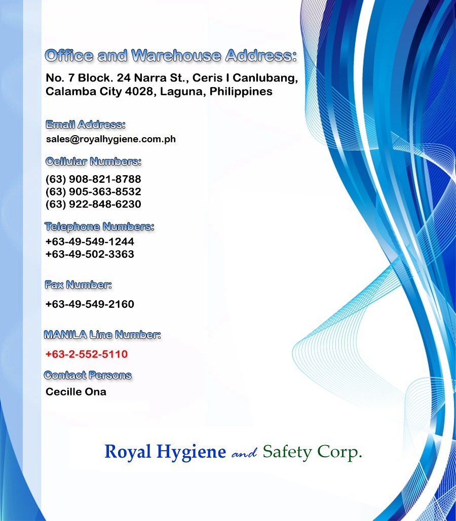 Contact Us - Royal Hygiene and Safety Corp